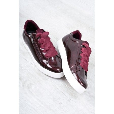 Marco Tozzi Durlo Patent Trainer Shoe - Red