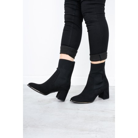 Marco Tozzi Delo Block Heel Sock Boot - Black