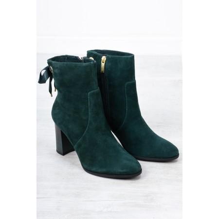 Tamaris  Francesca Stretch Ankle Boot Block Heel - Green