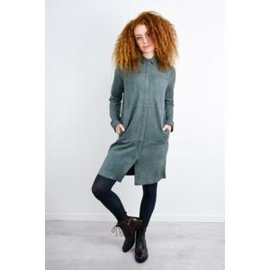 Sandwich Clothing Faux Suede Shirt Dress