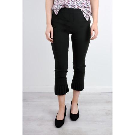Robell  Rose 09 Slimfit 7/8 Pleat Detail Trouser - Black