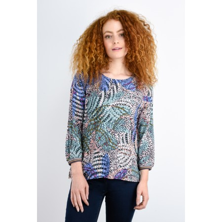 Sandwich Clothing Abstract Nature Print Top  - Grey