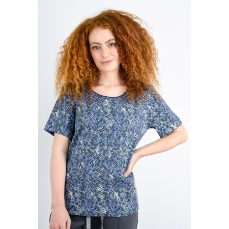 Sandwich Clothing Snakeskin Print Blouse - Purple
