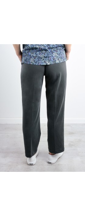 Sandwich Clothing High Waisted Jersey Trousers Anthracite
