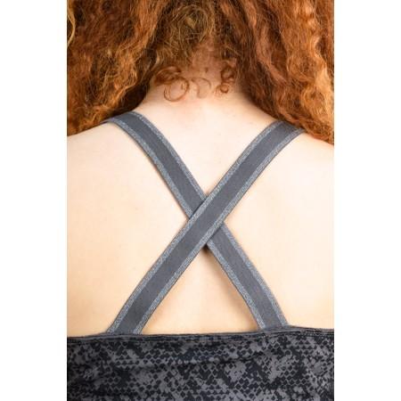 Sandwich Clothing Cross Back Snake Print Vest Top - Grey