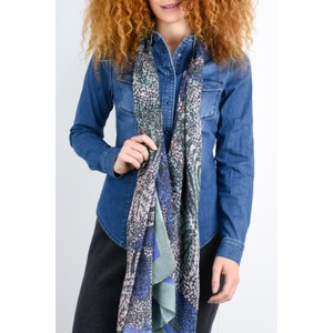Sandwich Clothing Abstract Print Nature Scarf