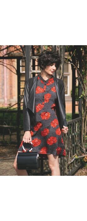 Masai Clothing Gizina Floral Tunic Pumpkin Org