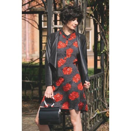 Masai Clothing Gizina Floral Tunic - Orange