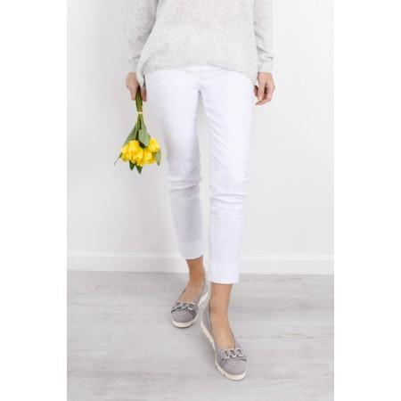 Robell  Rose 09 Jacquard Slimfit 7/8 Trouser - White