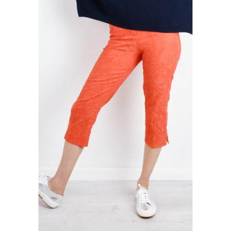 Robell  Marie 07 Jacquard Trouser - Orange