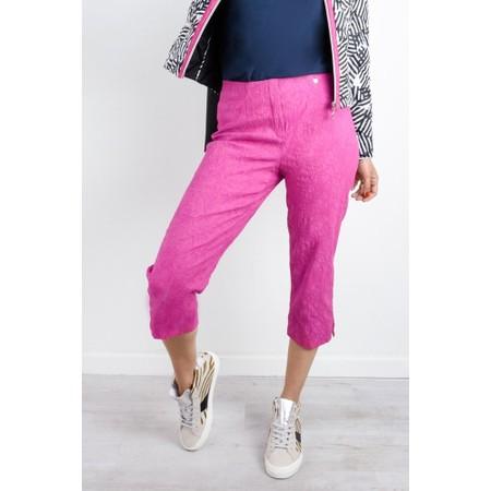 Robell  Marie 07 Jacquard Trouser - Pink