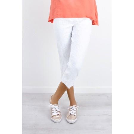 Robell  Marie 07 Jacquard Trouser - White