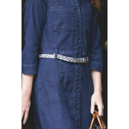 Sandwich Clothing Snakeskin Belt - Grey