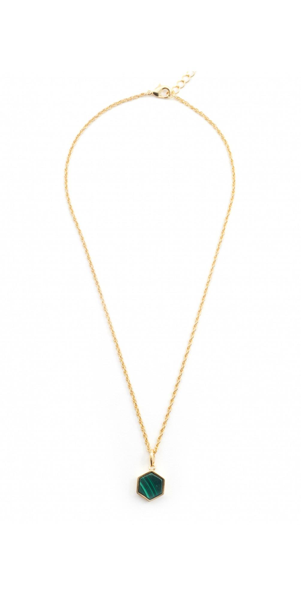 Filigree Mini Hexagon Pendant Necklace main image