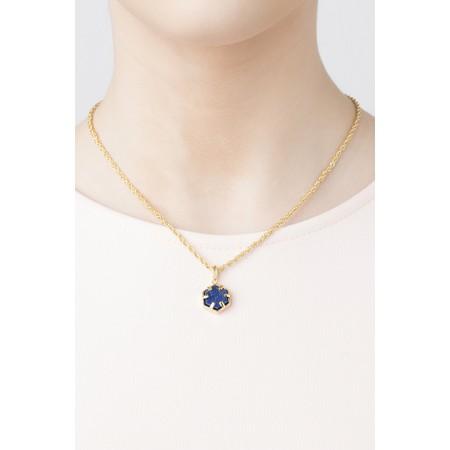 Bill Skinner Filigree Mini Hexagon Pendant Necklace - Blue