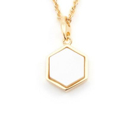 Bill Skinner Filigree Mini Hexagon Pendant Necklace - Metallic