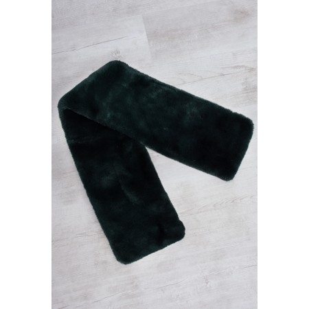 RINO AND PELLE Stip Super Soft Faux Fur Scarf - Green