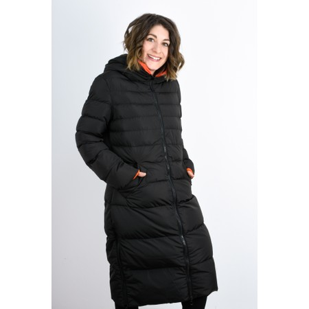 RINO AND PELLE Keila Longline Reversible Puffa Coat - Black