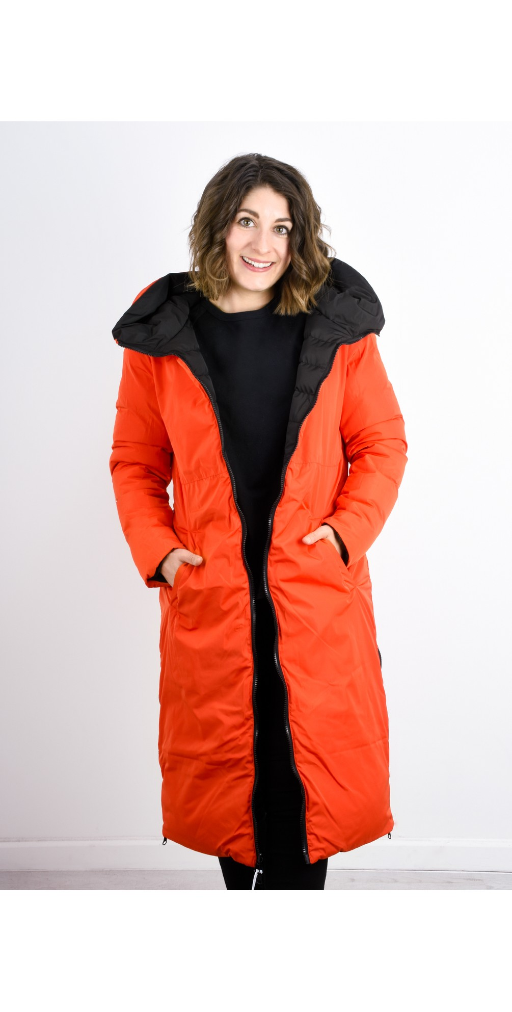 Pelle Keila Reversible Long Padded Coat