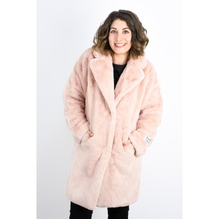 RINO AND PELLE Faux Fur Joela Coat - Pink