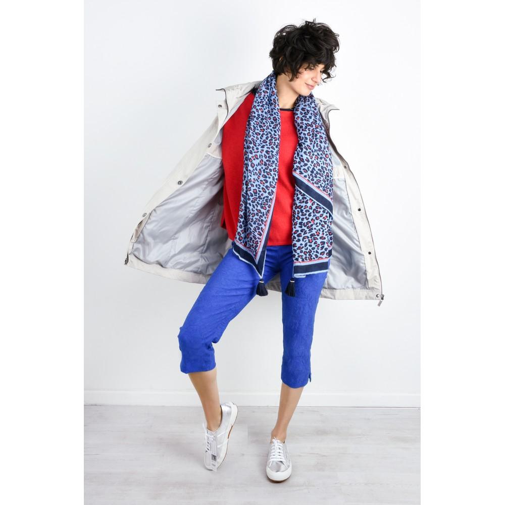 Robell Marie 07 Cobalt Jacquard Crop Trouser Cobalt