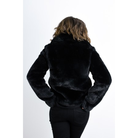 RINO AND PELLE Juna Faux Fur Easyfit Coat - Black