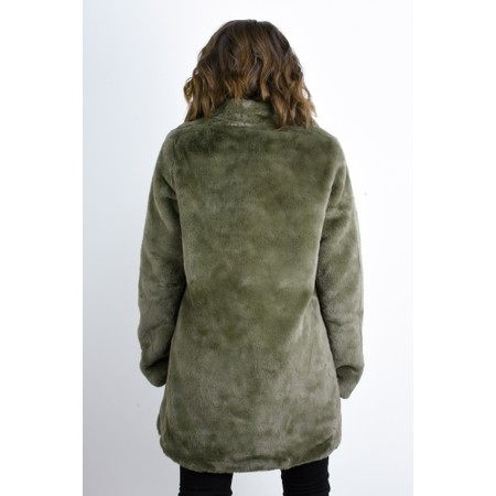 RINO AND PELLE Nonna Faux Fur Coat - Green