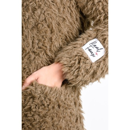 RINO AND PELLE Welda Shaggy Faux Fur Jacket - Brown