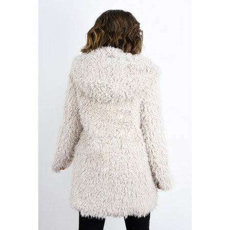 RINO AND PELLE Welda Shaggy Faux Fur Jacket - Beige