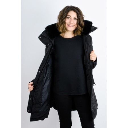 RINO AND PELLE Blush Quilted Coat  - Black