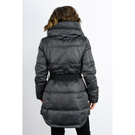 RINO AND PELLE Addison Faux Fur Collar Puffa Coat - Grey