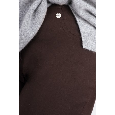 Robell  Bella 09 Ankle Length 7/8 Cuff Trouser - Brown