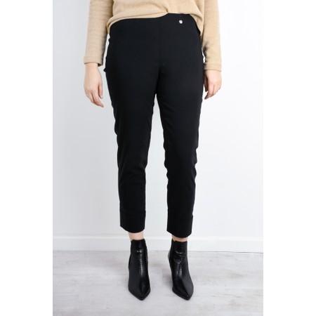 Robell  Bella 09 Ankle Length 7/8 Cuff Trouser - Black