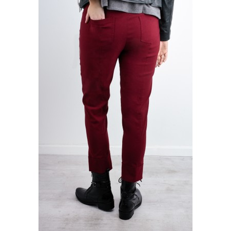Robell  Bella 09 Ankle Length 7/8 Cuff Trouser - Red
