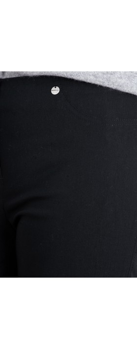 Robell  Bella 78cm Slim Fit Full Length Trouser Black 90