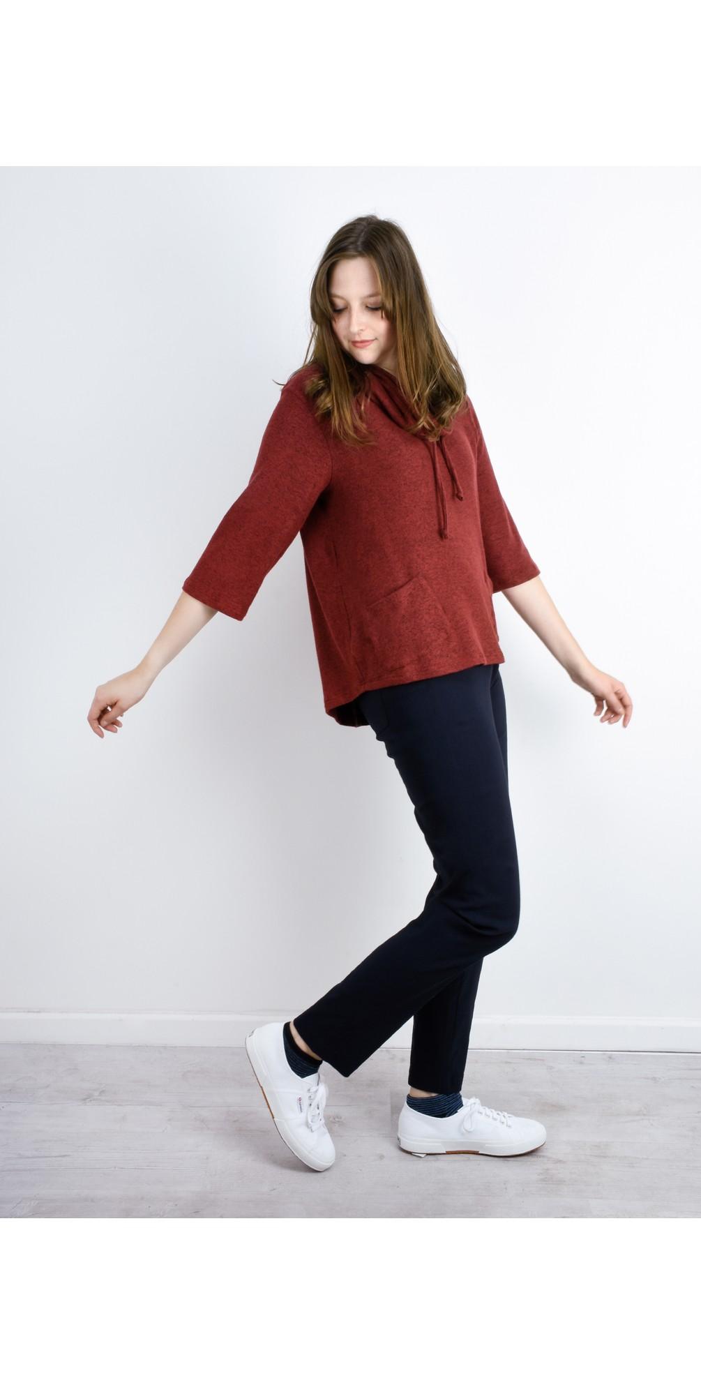 Bella Navy Slim Fit 78cm Full Length Trouser main image