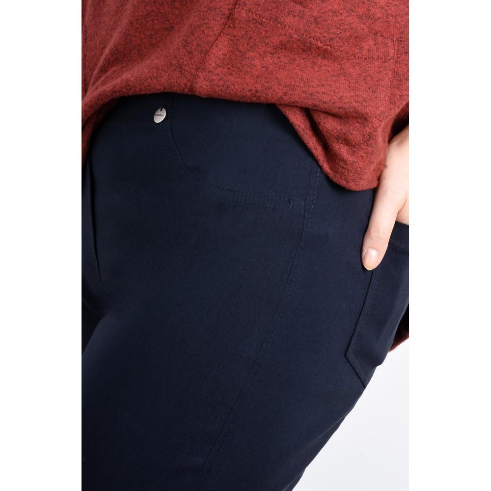 Robell Bella Navy Slim Fit 78cm Full Length Trouser Navy 69