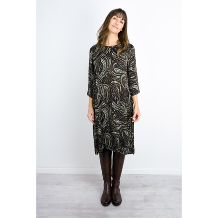 Masai Clothing Nona Bold Paisley Dress - Blue