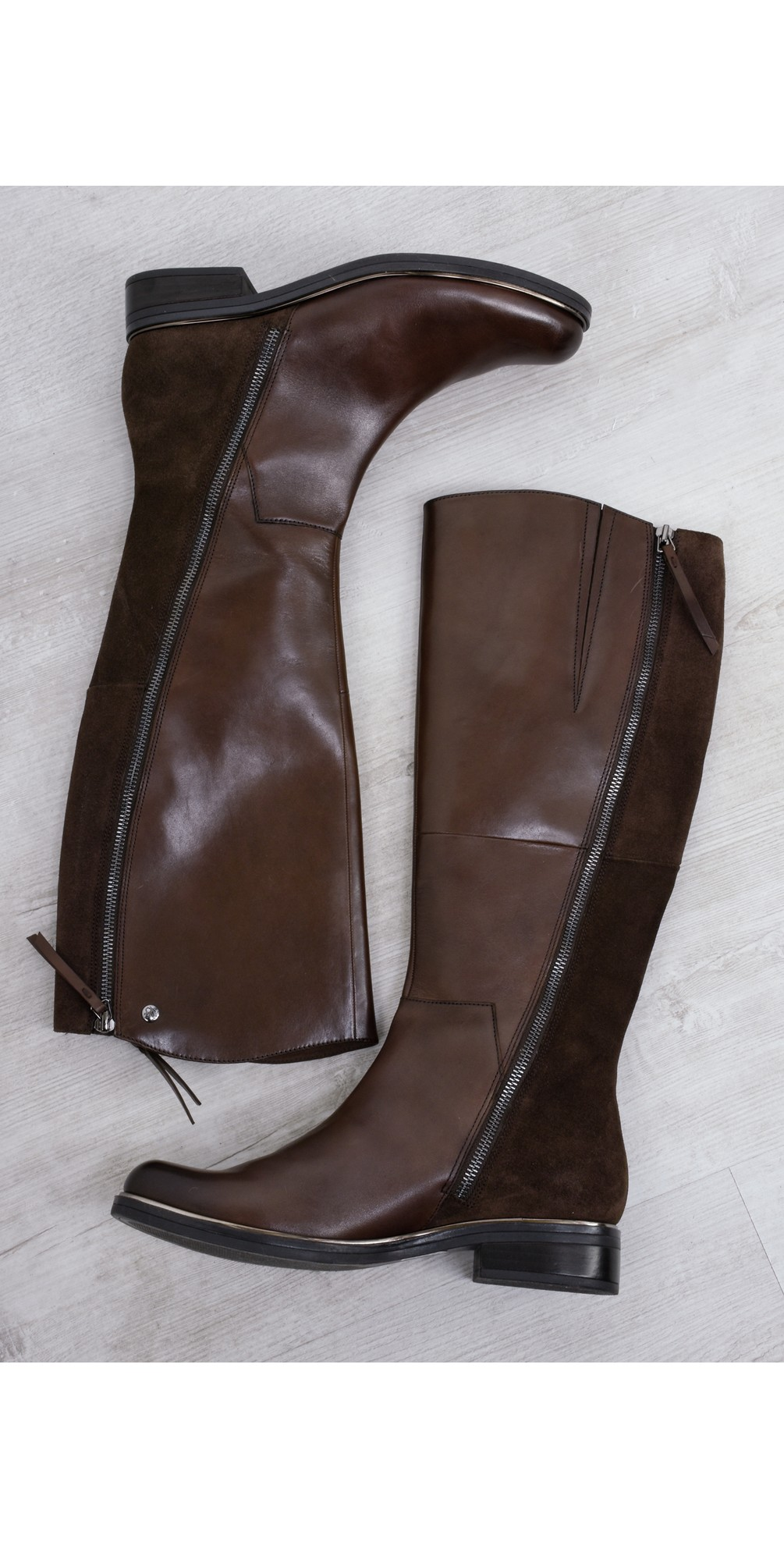Gisela Leather Boot With Side Zip  main image