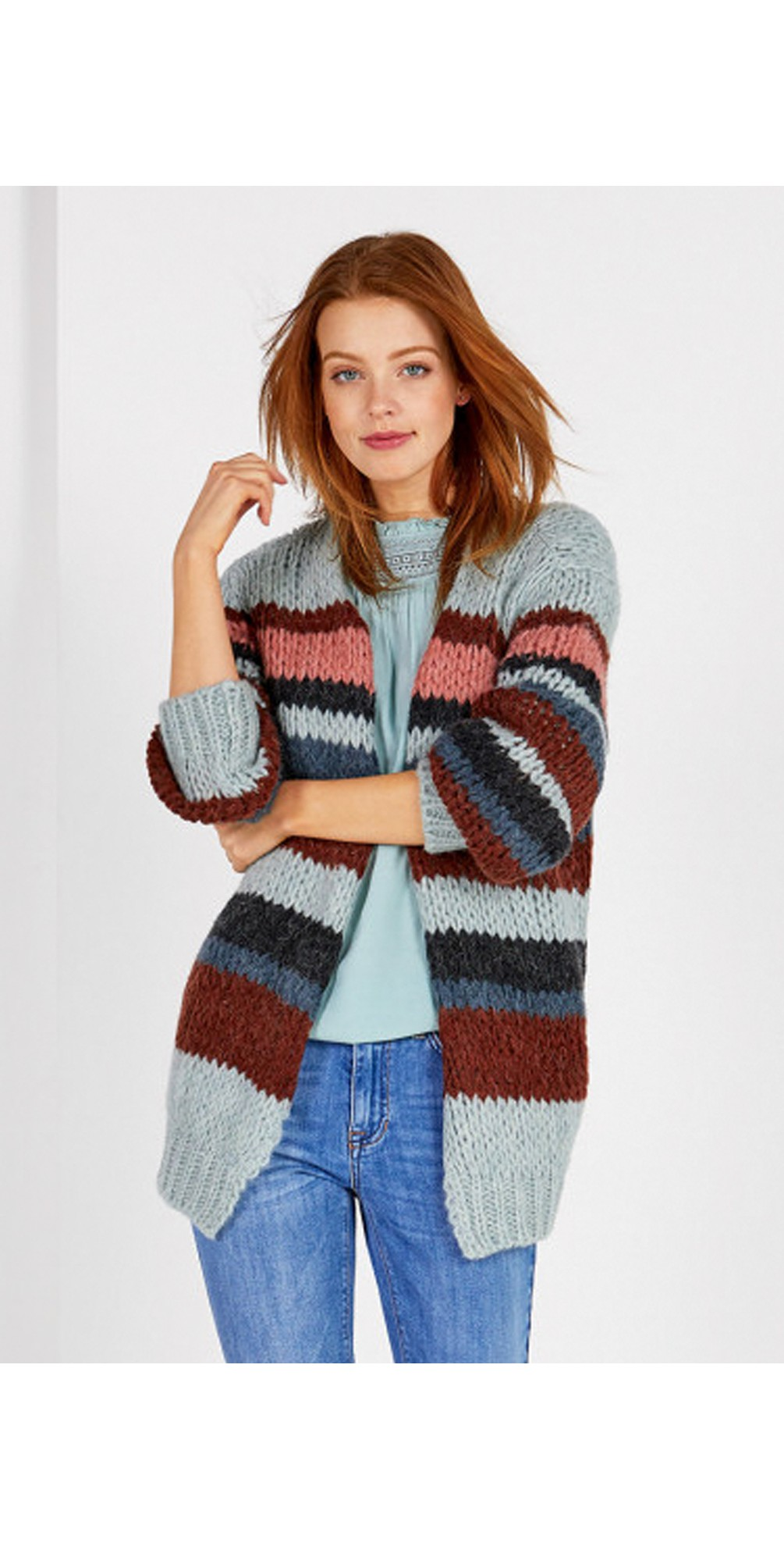 Jasmin Multi Stripe Cardigan main image