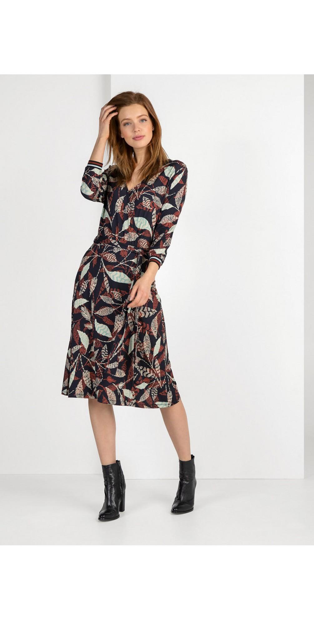 Janine Leaf Print Wrap Dress main image