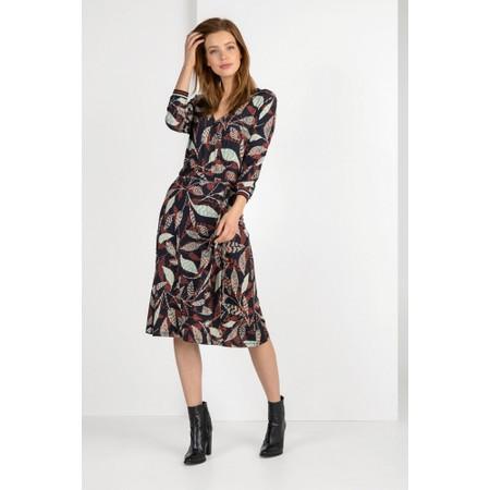 Expresso Janine Leaf Print Wrap Dress - Black