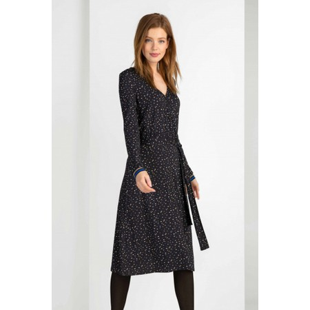 Expresso Kathy Printed Wrap Dress - Black