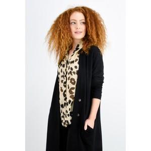 Masai Clothing Leva Leopard Print Blouse