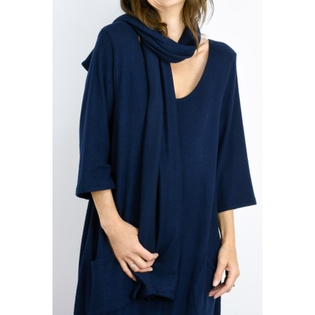 Thing Long Soft Knit Scarf - Blue