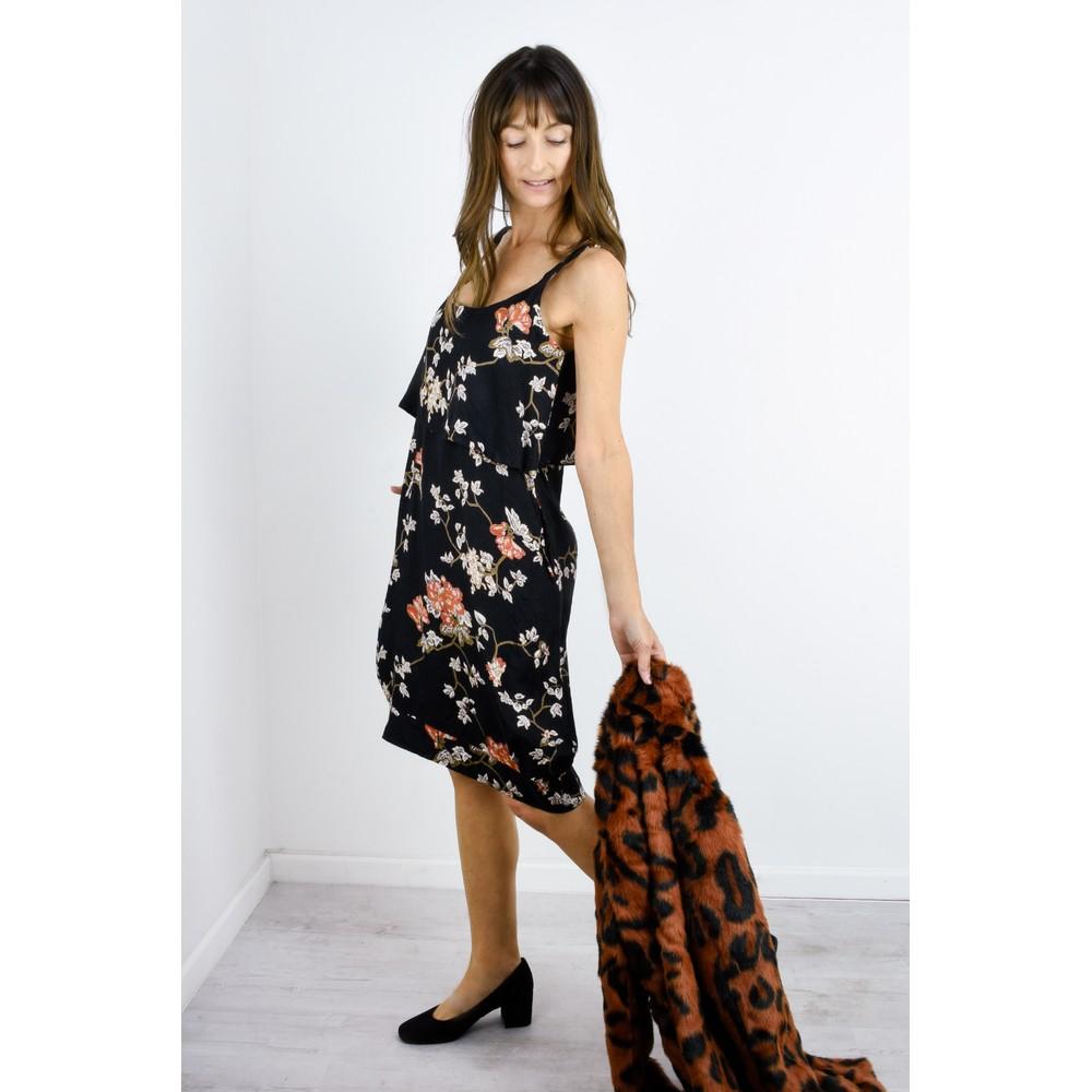 Masai Clothing Olwina Oriental Floral Dress Pumpkin Org