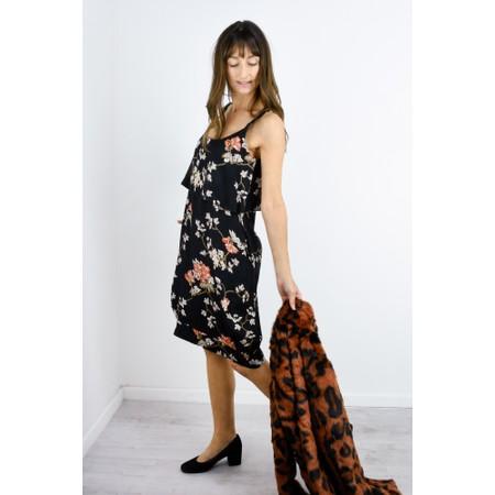 Masai Clothing Olwina Oriental Floral Dress - Orange