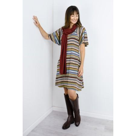 Masai Clothing Gigi Zig-Zag Tunic - Blue