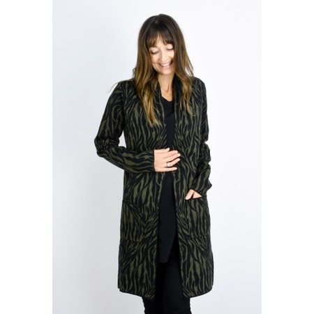 RINO AND PELLE Frutti Animal Longline Cardigan - Green