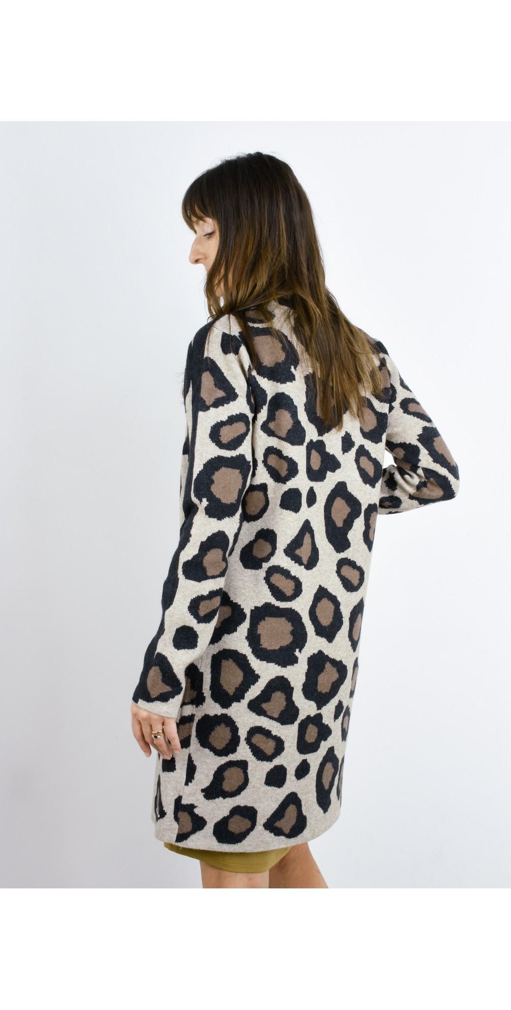 Fjona Leopard Longline Cardigan main image